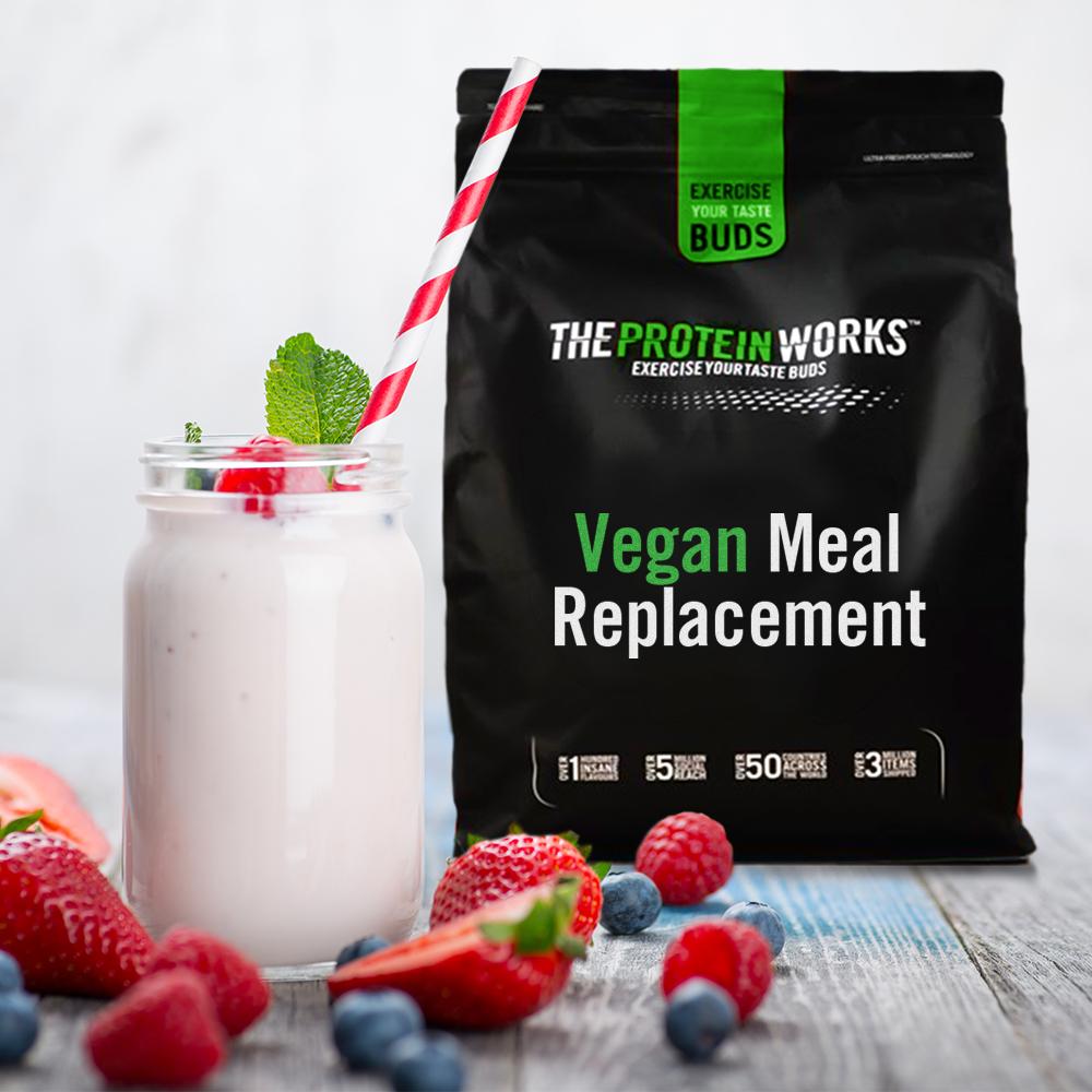 Vegan Meal Replacement, Stawberries N Cream, 1kg