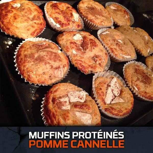 Muffins Protéinés Pomme Cannelle